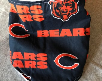 Chicago Bears football bandana bib
