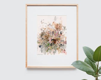 Abstract art composition - Contemporary art - Watercolor Print - Limited edition. Battle II.
