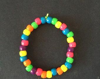 Plastic beaded bracelet