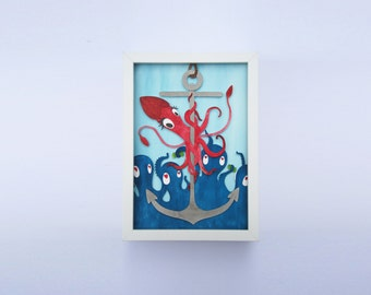 Handmade Poledancing Squid – Paper Art