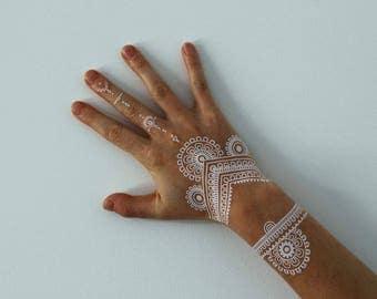 White Henna Transfer-Tattoos