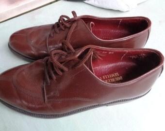 Men shoes, French Vintage Leather shoes ,vintage men shoes ,
