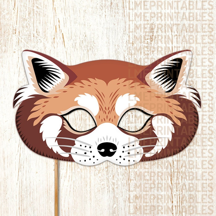 Red Panda Printable Mask Diy Animals Masks By Lmeprintables