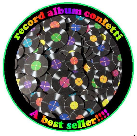 Record decoration ,70's party, record confetti, album confetti, music confetti, 80's party, record album confetti, record party decoration