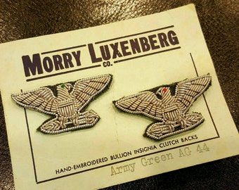 Luxenberg Vietnam Rare Bullion Colonel USAF/Army Shoulder Insignia Beautiful Condition a must see L@@k!!!!!