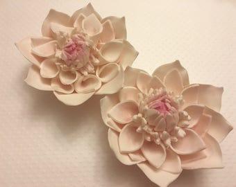 4 Dahlia Fondant Flower III Fondant Dahlias Gumpaste Flowers Gumpaste Dahlias Cake Topper Wedding Cake Topper Cake Decoration Edible Flowers