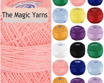 Crochet thread- Size 16, Cotton perle, cotton thread, irish crochet, mercerised cotton thread, pearl cotton thread,coral, lilac,