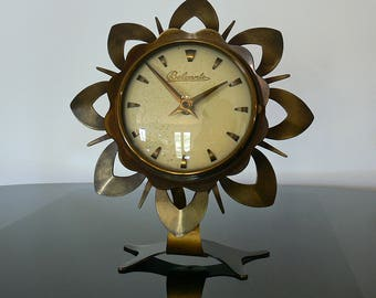 Belcanto desktop or table clock with Hettich caliber . Made Ca 1955 in Germany .