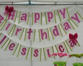 Large size banner, happy birthday banner