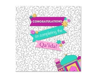 Congratulations on Completing the Qa'ida Girls Islamic Card