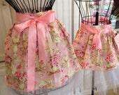 Custom order fit Beth Miller - Tutu for tea apron set pink tea