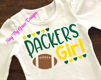 Packers Football Shirt, Green Bay shirt for baby, Green Bay Packers shirt for girl,  Packers shirt for baby, Packers football shirt girls