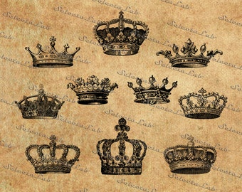 Digital SVG PNG crown, royal crown, king, queen, princess, prince crown, vector, clipart, silhouette, instant download