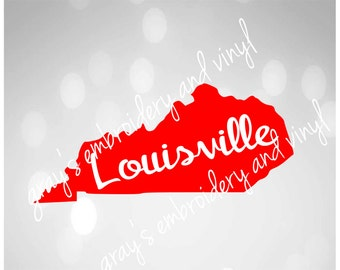 louisville in state of kentucky svg dxf