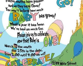 Invitation: birthday, shower, wedding, etc