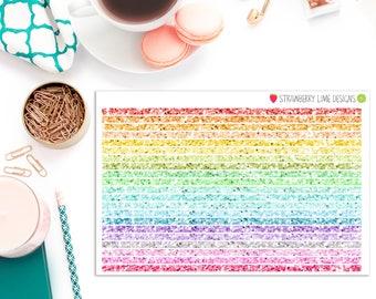 Skinny Long Washi Strips - Glitter