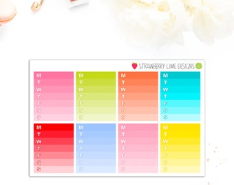 Colour Burst Weekly Ombre Boxes