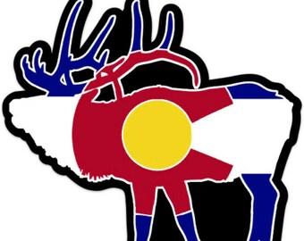 Colorado elk sticker