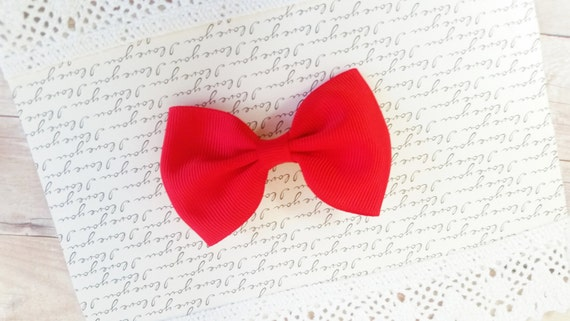 Red Hair Bows, Toddler Girl Hair Bows. Infant Bows For Girls, Baby Bow Hair Clips, Head Bows For Baby Girls, Teen Hair Bows, Red Baby Bow