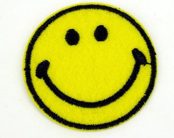 Large Smiley face Smile Sew on Patch Bags Jeans Clothes Plain yellow Customised clothing