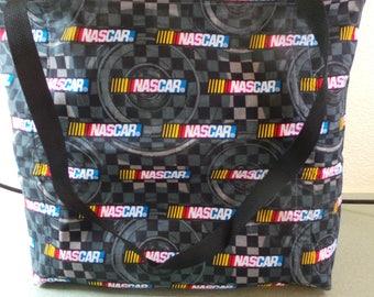 Nascar Racing Reusable Farmers Market / Grocery / Shopping Bag / Tote