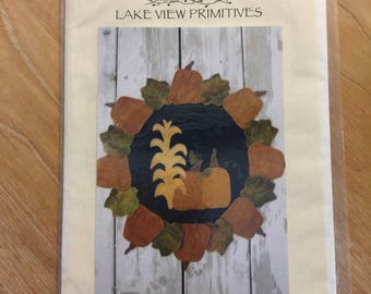 Fall Harvest Penny Rug Sewing Pattern C11