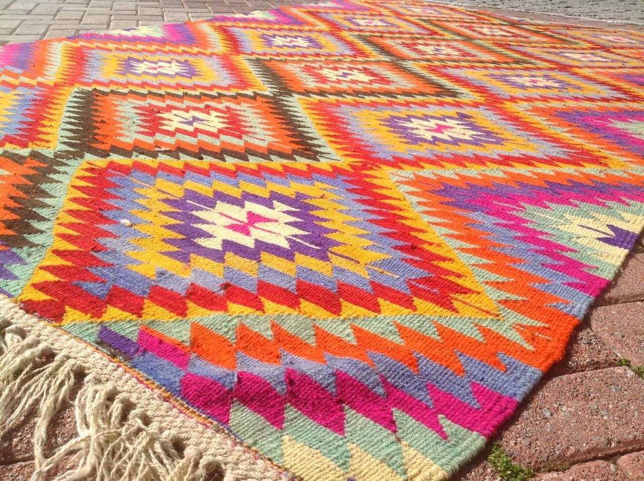 Turkish Kilim Rug Area Rug Rug Vintage Rug Bohemian By