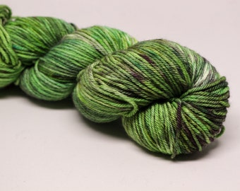 OOAK #8 - Rollerball worsted weight 100% non-superwash merino hand dyed speckled variegated yarn