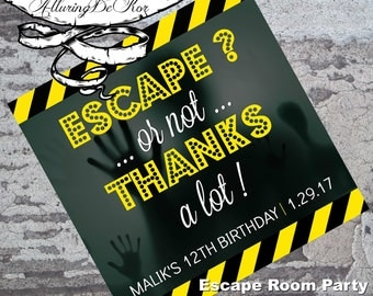 Escape room party etsy for Escape room party