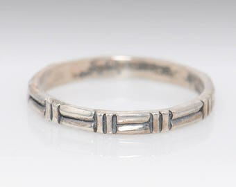 Vintage Sterling Silver Band - Size 9