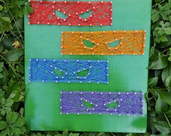 Teenage Mutant Ninja Turtles String Art- TMNT Kids Gift Wall Art