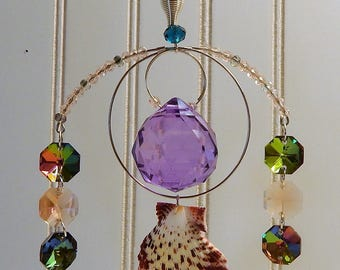30 & 40 mm faceted sphere Light catchers, with Swarovski crystal's window decorations.