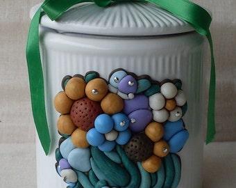 White ceramic jar