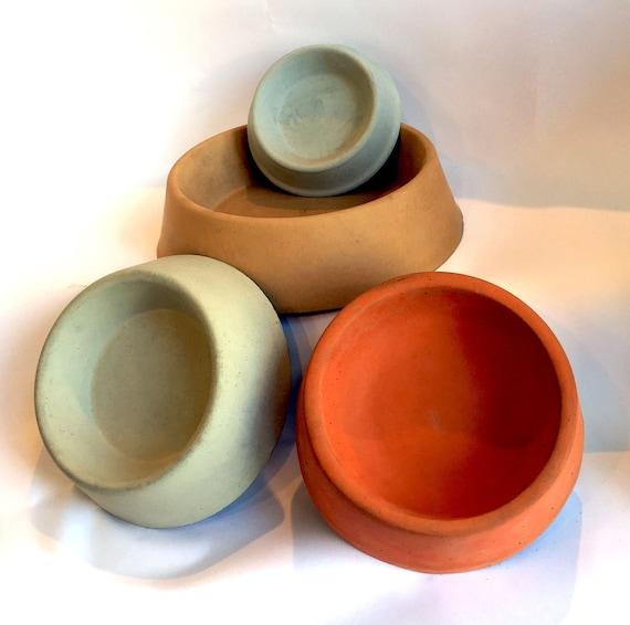 cement pet bowls