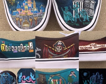 Custom painted Disney shoes