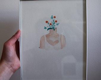Never Stop Growing 8x10 Original Watercolor