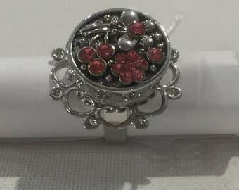 Flower RHINESTONE rose flower ring