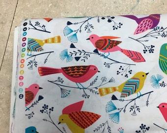 Micheal Miller dot Fabric by the Yard patt # cx6356 - whit d  birds