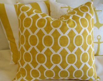 Decorative Pillow Cover, Throw Pillow, Pillow Cover, Accent Pillow, Yellow Pillow, 18x18 Pillow Cover, Home Decor, Office Decor