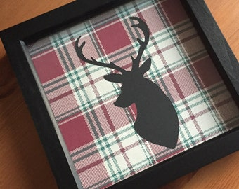 Stag Mount Tartan Picture Frame