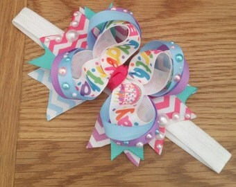 Birthday Stacked Boutique Bow