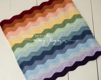 Rainbow Baby Blanket - infant loss baby gift crochet baby afghan