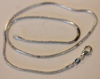 """Vintage sterling silver snake link chain 16"""""""