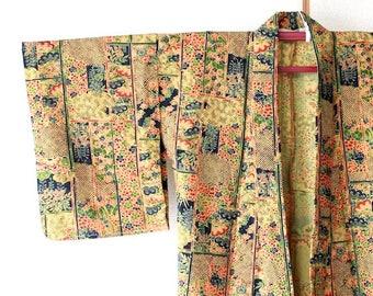 Single clothing of plant pattern*kimono
