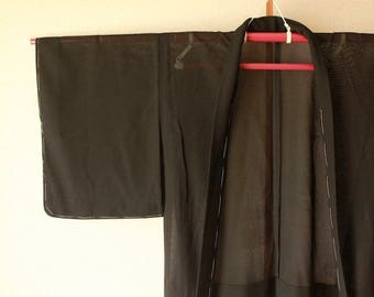 Black lace cardigan. Haori. For summer kimono. Floral. It is unused.