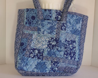 Shoulder bag magazine tote quilted patchwork light weight