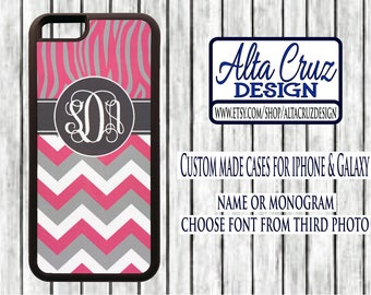 Personalized Monogrammed cell phone case, iPhone or Galaxy, name or monogram #134