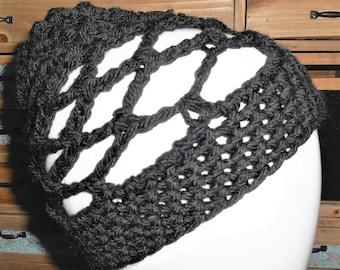 Open weave beanie