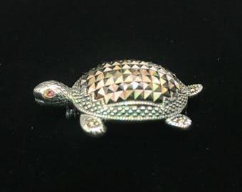 Sterling Silver Turtle Brooch!