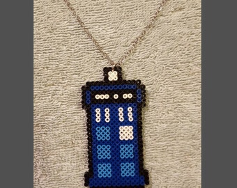 Dr. Who Tardis Beaded Necklace